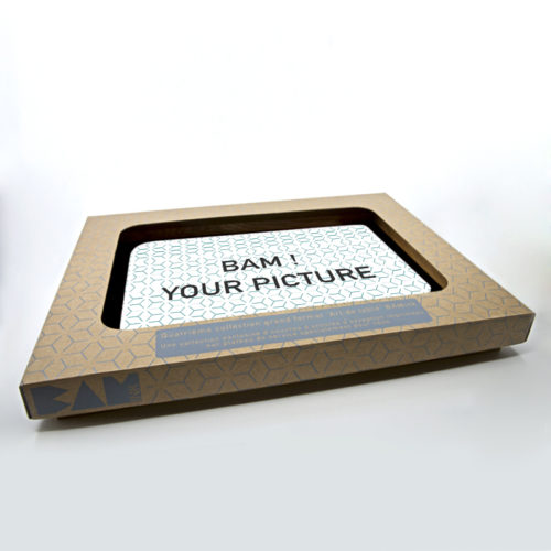 customizable serving tray on white background with packaging