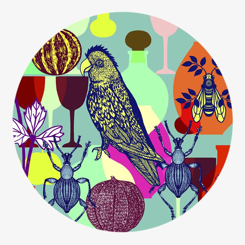 Visuel 02 de la collection Déjeuner sur l'herbe II - coaster visual 02