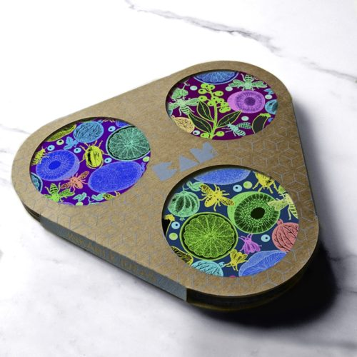 BAMink-Michaël Cailloux-Salade-de-fruit-II-coaster with packaging official