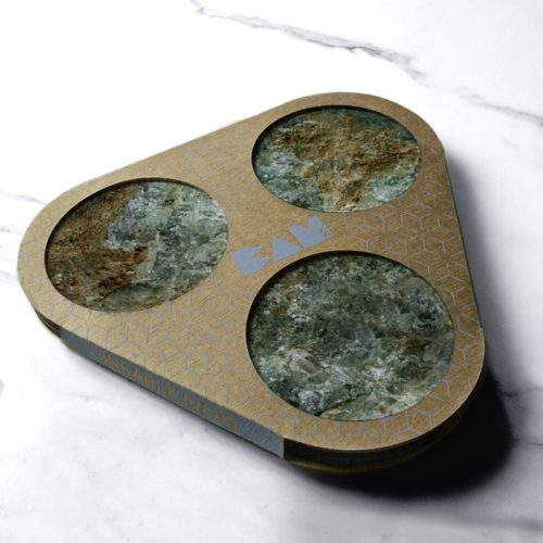 BAMink-Némo Welter-Actinolite-coaster with packaging