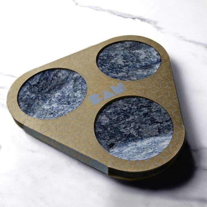 BAMink-Némo Welter-Quartz-bleu-coasters-with packaging