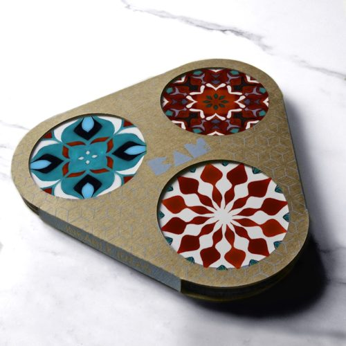 BAMink-Pauline Dubisy-Azulejos-coasters with packaging