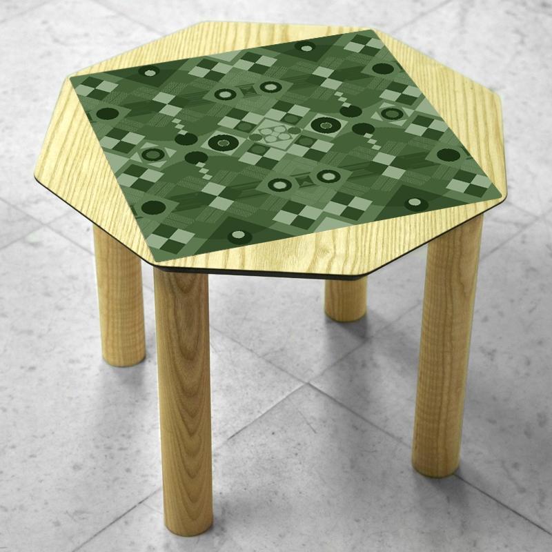 BAMink-table-basse-frêne-Oktō-sol en marbre-Némo Welter-Digital-Green