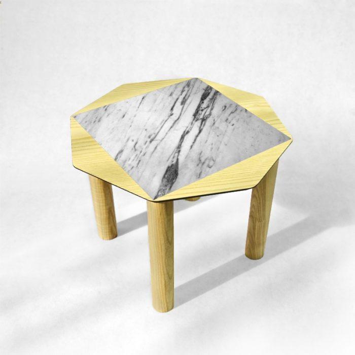 BAMink - table-basse-frêne-Oktō-fond-neutre-Némo Welter-Marbre-I