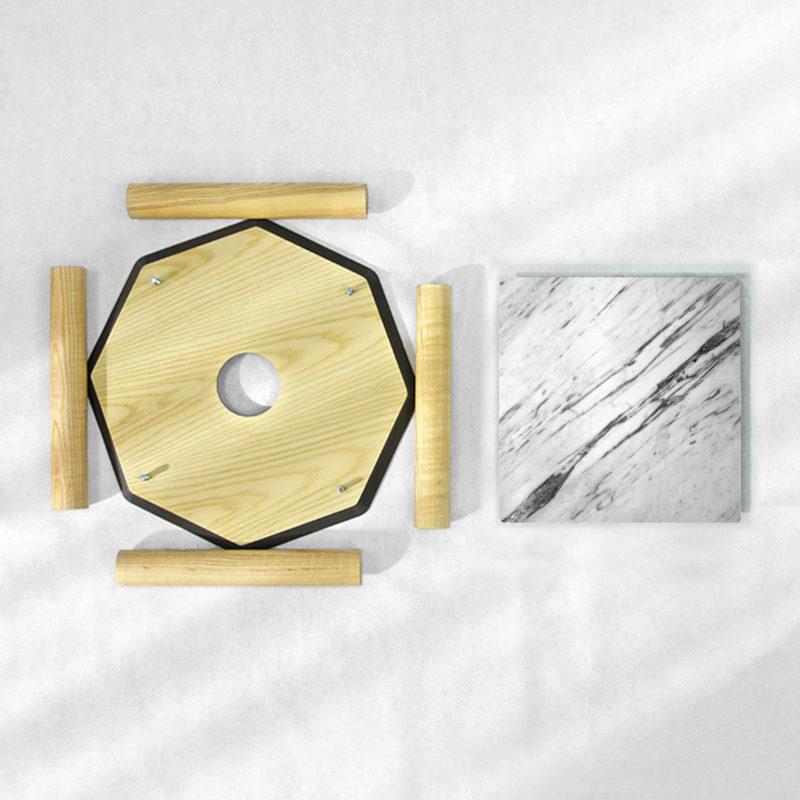 BAMink-table-basse-frêne-Oktō-démonter-Némo Welter-Marbre-I