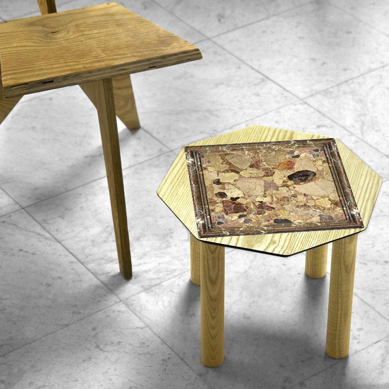 BAMink-table-basse-frêne-Oktō-mise en situation-fond-neutre-Némo Welter-Marbre-II