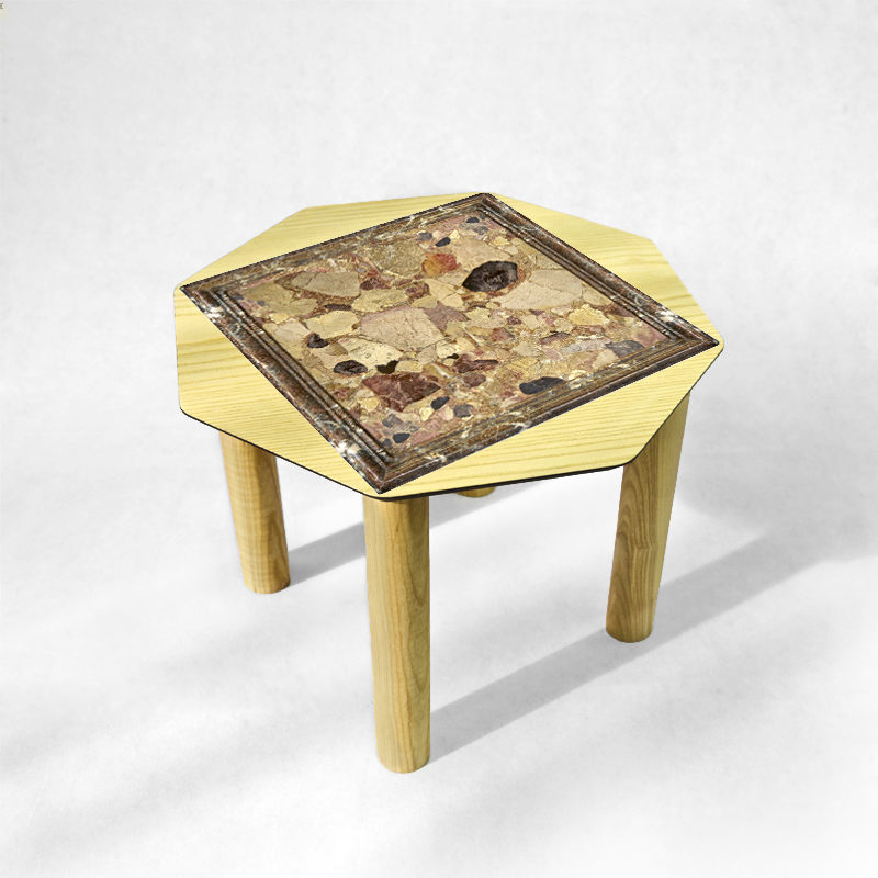BAMink - table-basse-frêne-Oktō-fond-neutre-Némo Welter-Marbre-II