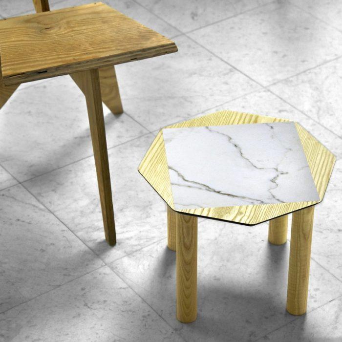 BAMink-table-basse-frêne-Oktō-mise en situation-fond-neutre-Némo Welter-Marbre-III