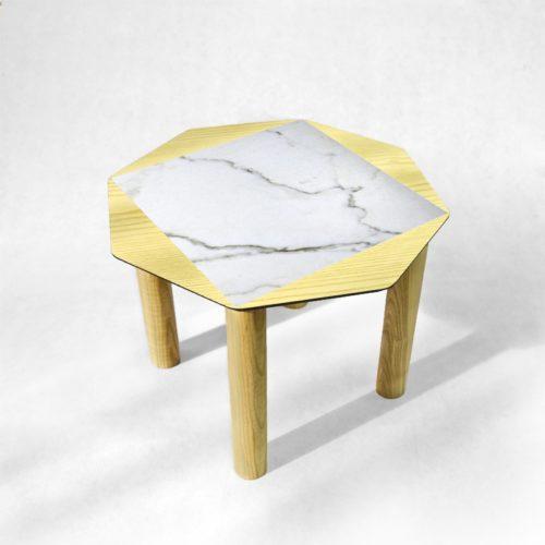BAMink - table-basse-frêne-Oktō-fond-neutre-Némo Welter-Marbre-III