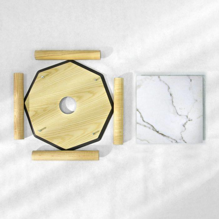 BAMink-table-basse-frêne-Oktō-démonter-Némo Welter-Marbre-III