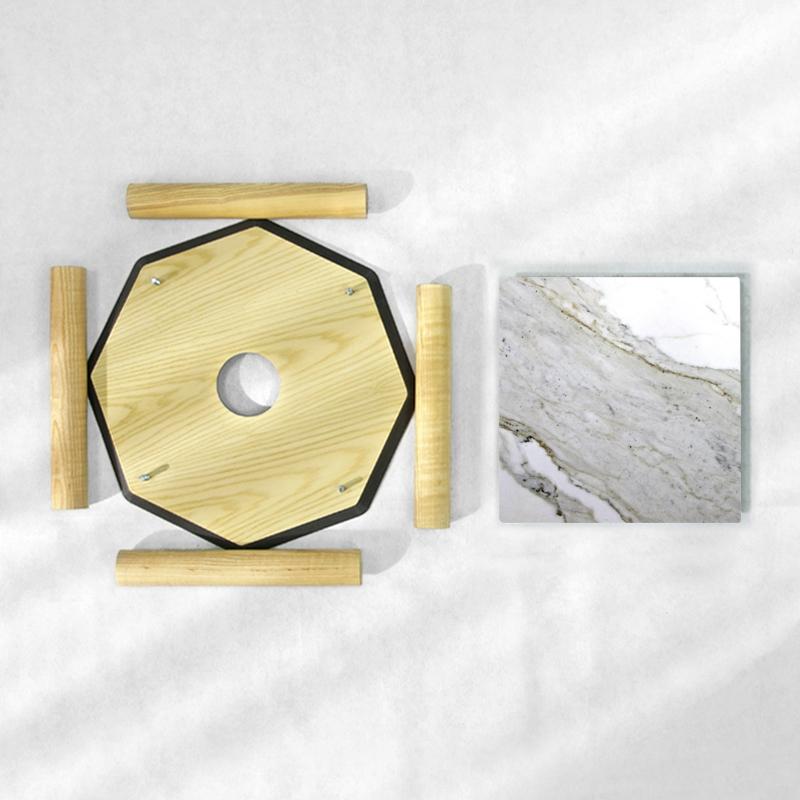 BAMink-table-basse-frêne-Oktō-démonter-Némo Welter-Marbre-IV