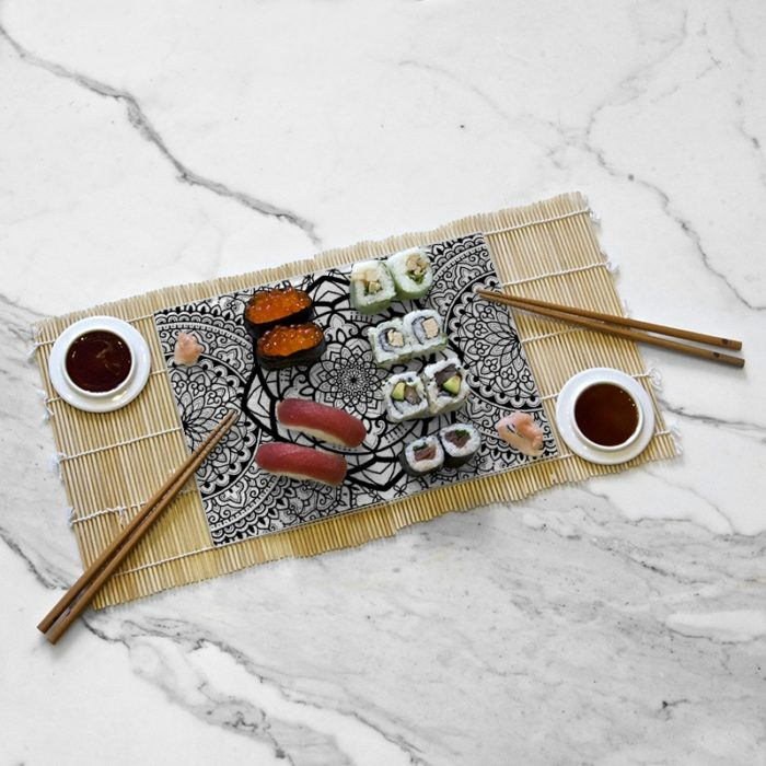 Setting the tasting tray, Calypso collection by Daniel Dimattia
