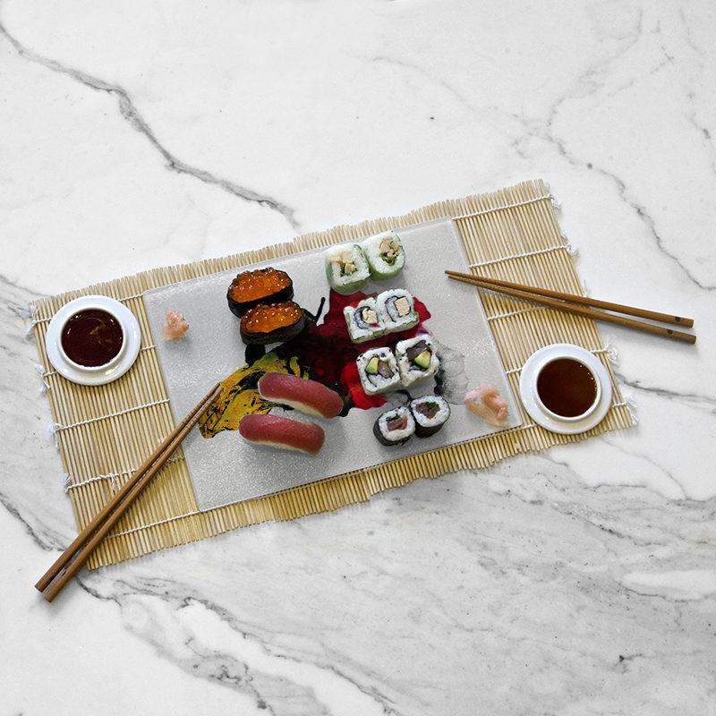 Mise en situation du plateau de dégustation, collection Niwa I de Mitsuaki Saito
