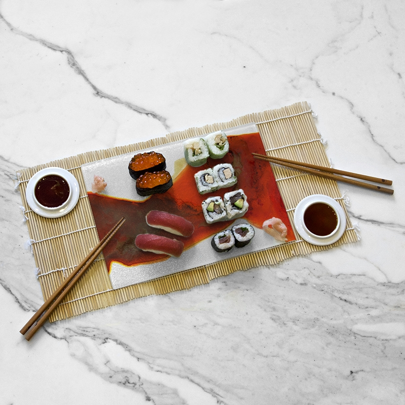 Tasting tray, Natural Red collection by Yannick Pirson