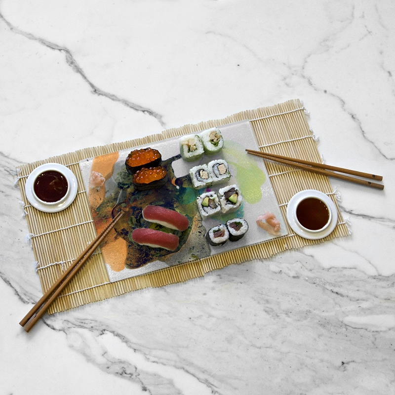 Tasting tray, Ool Green collection by Yannick Pirson