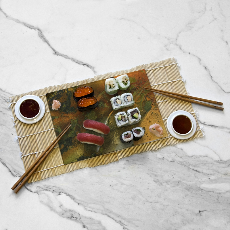 Tasting tray, Ool-d O Green collection by Yannick Pirson