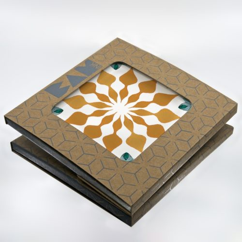 Official BAMink packaging with the Azulejos I trivet