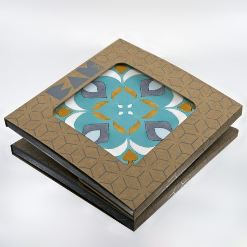 Official BAMink packaging with the Azulejos II trivet