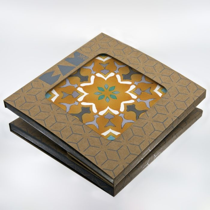 Official BAMink packaging with the Azulejos III trivet