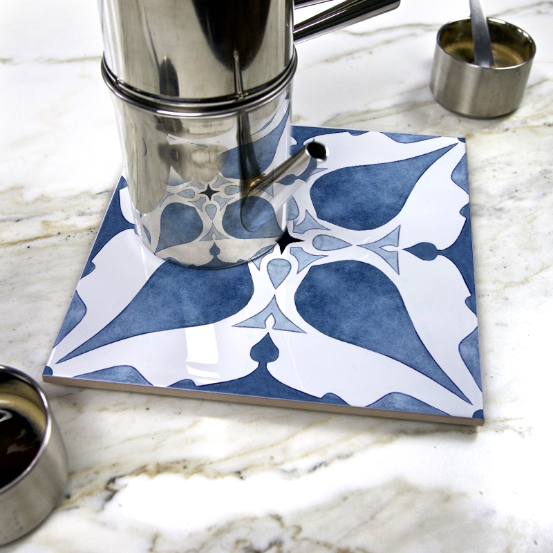 """Confidence"" by Pauline Dubisy on ceramic trivet"