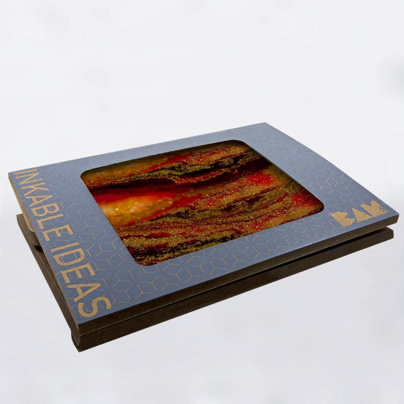 Plateau de dégustation de la collection Pépite Galaxy avec son packaging BAMink officiel
