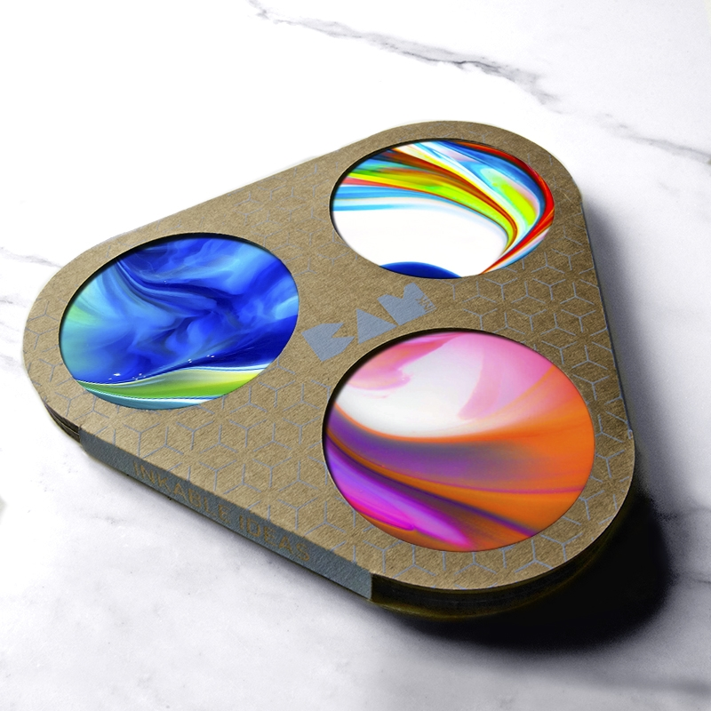 BAMink-3 p'tits-points-pépites-haut-en-couleurs-coasters-packaging