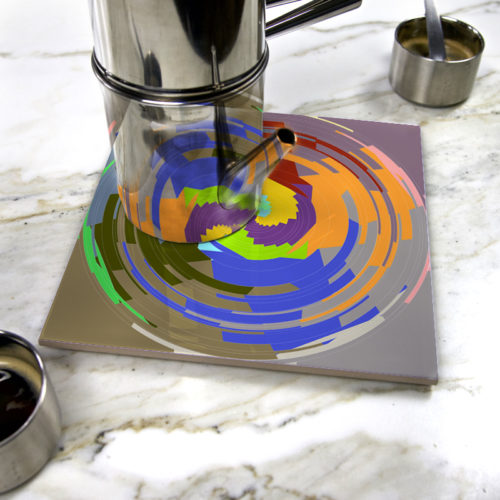 """Color Hole"" by Némo Welter on ceramic trivet"
