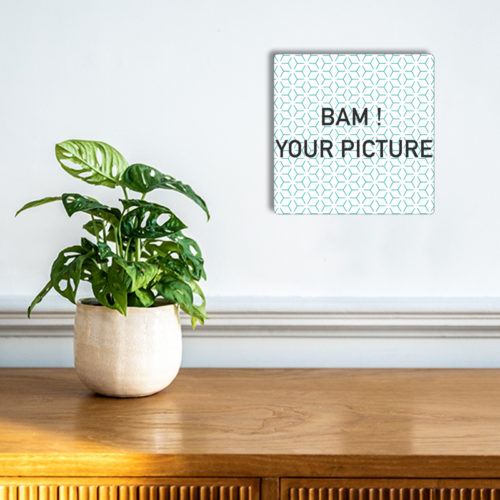 Setting in situation - customizable square aluminum plate - 15x10
