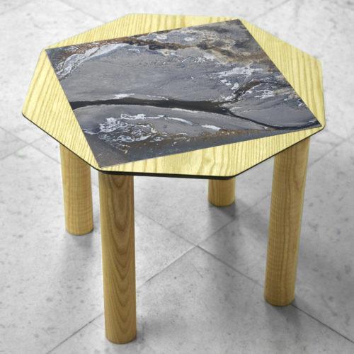 BAMink-coffee-table-ash-Oktō-marble floor-Matthieu Colin-Camargue I