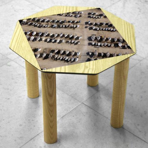 BAMink-coffee-table-ash-Oktō-marble floor-Matthieu Colin-Voiliers-à-port-saint-louis-du-Rhone
