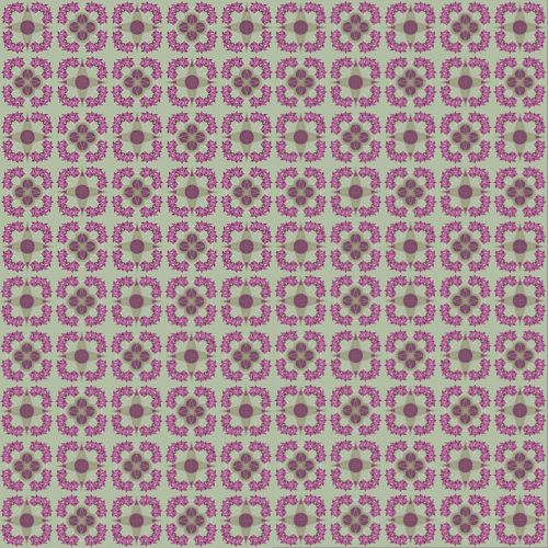 "Mosaïc de 100 carrelages de la collection ""Pink Flowers"" de Némo Welter pour la table basse BAMosaïc"