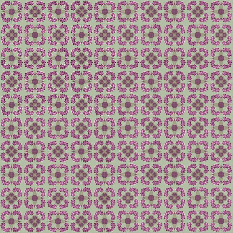 Aperçu ensemble de carrelage BAMosaïc - Pink Flowers - Némo Welter