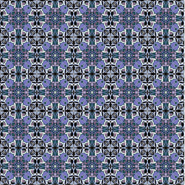 Aperçu ensemble de carrelage BAMosaïc - Purple Geometric - Némo Welter